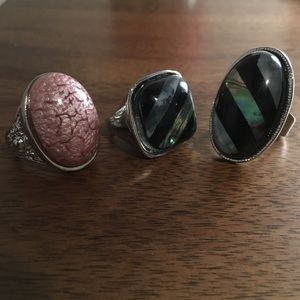 Fashion jewelry rings, set of 3